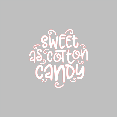 Sweet As Cotton Candy Stencil Digital Download - Dots and Bows Designs
