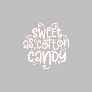 Sweet As Cotton Candy Stencil - Dots and Bows Designs