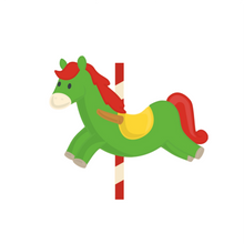 Load image into Gallery viewer, Carousel Horse Cutter - Dots and Bows Designs