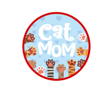 Load image into Gallery viewer, Cat Mom Package Tags - Dots and Bows Designs