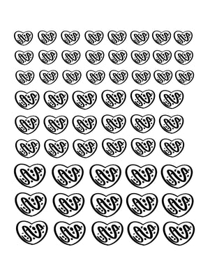 Chocolate Candy Icing Transfer Sheets - Dots and Bows Designs