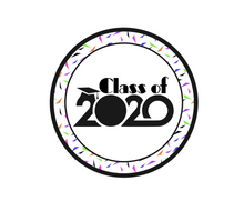 Load image into Gallery viewer, Class of 2020 Confetti Package Tags - Dots and Bows Designs