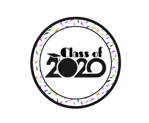 Class of 2020 Confetti Package Tags - Dots and Bows Designs