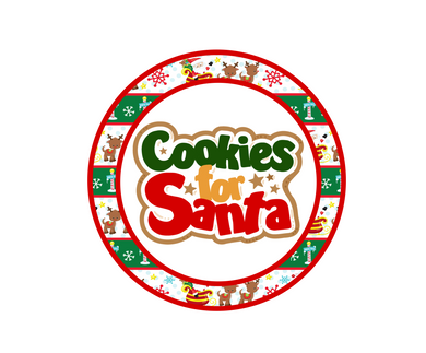 Cookies For Santa Package Tags - Dots and Bows Designs