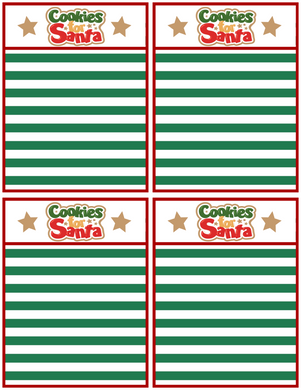Cookies For Santa Backer Card