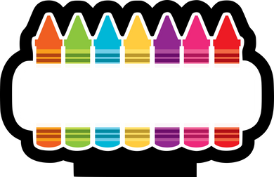 Crayon Banner Cutter CC - Dots and Bows Designs