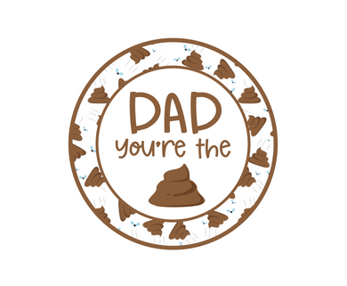 Dad You're The Poop Package Tags - Dots and Bows Designs
