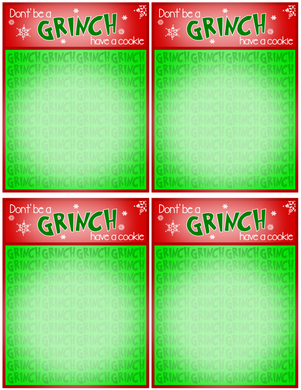 Don't Be a Grinch Backer Card