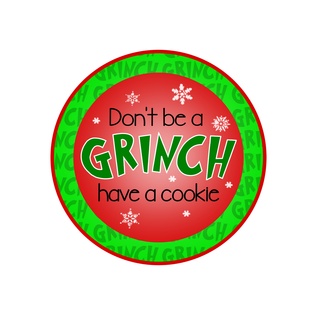 Don't Be a Grinch Package Tags