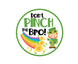 Don't Pinch Me Bro Package Tags - Dots and Bows Designs