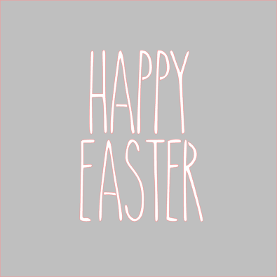 Happy Easter Skinny Stencil Digital Download - Dots and Bows Designs
