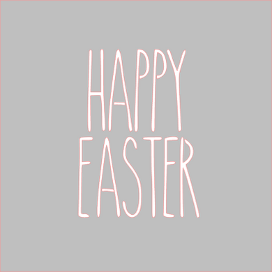 Happy Easter Skinny Stencil - Dots and Bows Designs