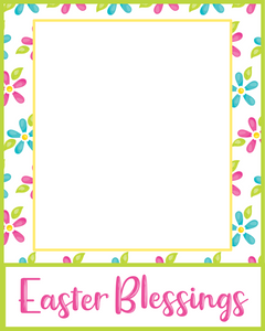 Easter Blessings Card 4x5 - Dots and Bows Designs