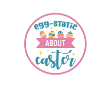 Load image into Gallery viewer, EGGstatic About Easter Package Tags - Dots and Bows Designs