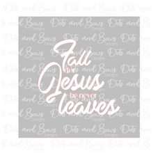 Load image into Gallery viewer, Fall for Jesus 2-piece Stencil