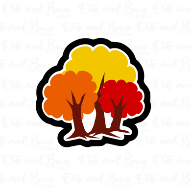 Fall Tree Trio Cutter - Dots and Bows Designs