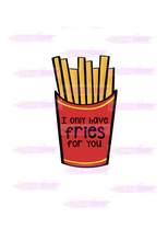 Load image into Gallery viewer, Only Have Fries For You Cutter - Dots and Bows Designs
