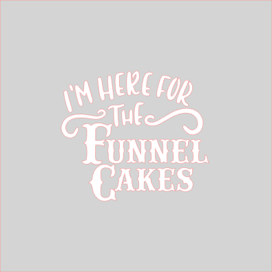 Here For The Funnel Cake Stencil - Dots and Bows Designs