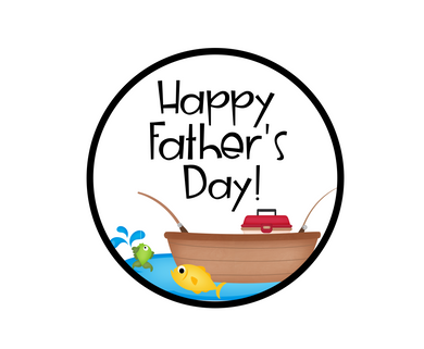 Fishing Happy Father's Day Package Tags - Dots and Bows Designs