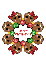 Load image into Gallery viewer, Gingerbread/Thanksgiving Platter STL Cutter Set Files - Dots and Bows Designs