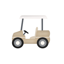 Load image into Gallery viewer, Golf Cart - Dots and Bows Designs