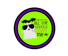 Load image into Gallery viewer, Ghouls Love Me Package Tag - Dots and Bows Designs