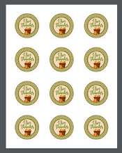 Load image into Gallery viewer, Give Thanks Green Plaid Package Tag - Dots and Bows Designs