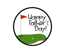Load image into Gallery viewer, Golfing Happy Father's Day Package Tags - Dots and Bows Designs