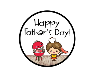 Grilling Happy Father's Day Package Tags - Dots and Bows Designs