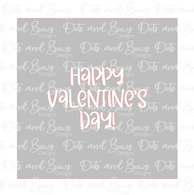 Happy Valentine's Day Stencil Digital Download