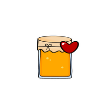 Load image into Gallery viewer, Heart Honey Jar Cutter