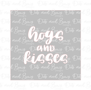 Hogs and Kisses 2 Piece Stencil Digital Download