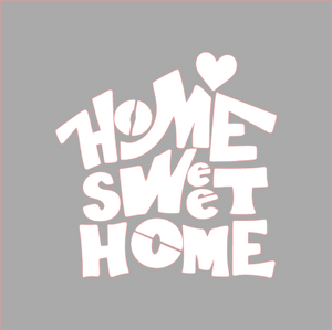Home Sweet Home Stencil - Dots and Bows Designs