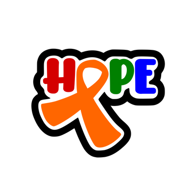 HOPE w Awareness Ribbon Cutter