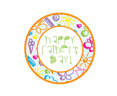 Happy Father's Day Doodles 2 Package Tags - Dots and Bows Designs