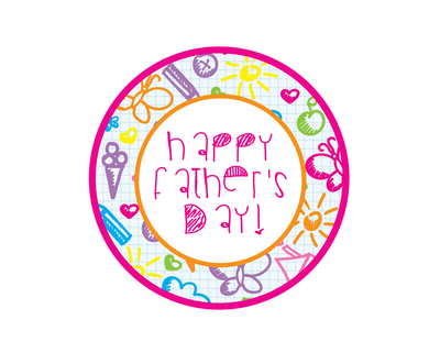 Happy Father's Day Doodles Package Tags - Dots and Bows Designs