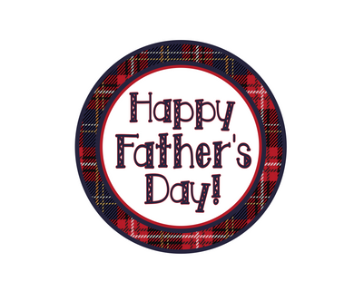 Happy Father's Day Plaid Package Tags - Dots and Bows Designs