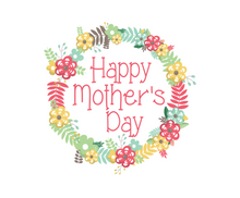 Load image into Gallery viewer, Happy Mother's Day Floral Package Tags - Dots and Bows Designs