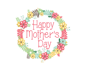 Happy Mother's Day Floral Package Tags - Dots and Bows Designs