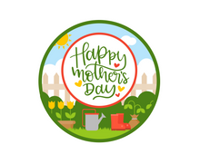 Load image into Gallery viewer, Happy Mother's Day Garden Package Tags - Dots and Bows Designs