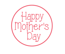 Load image into Gallery viewer, Happy Mother's Day Pink Package Tags - Dots and Bows Designs