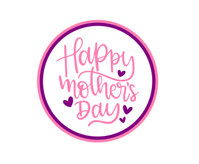 Happy Mother's Day Script Pink/Purple Package Tags - Dots and Bows Designs
