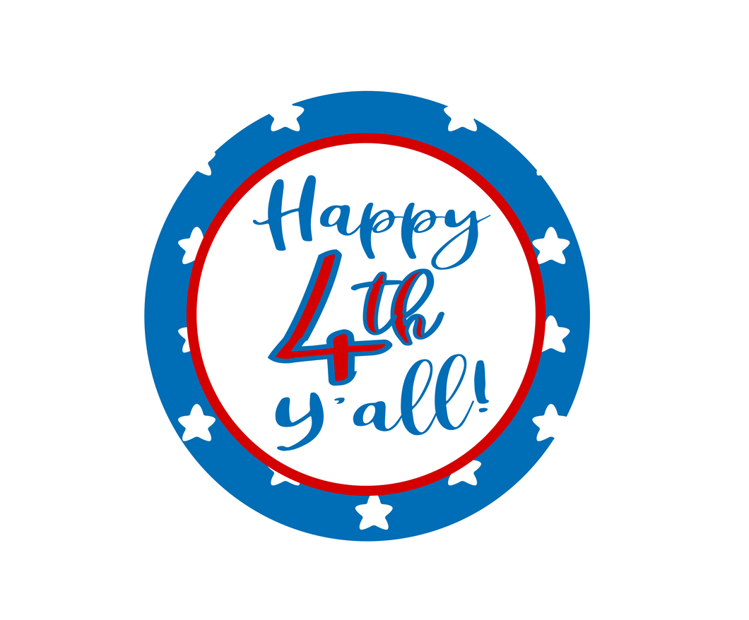 Happy 4th Y'all Package Tags - Dots and Bows Designs