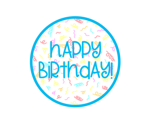 Happy Birthday Blue Package Tags - Cali - Dots and Bows Designs