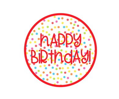 Happy Birthday Red Cali Package Tags - Dots and Bows Designs