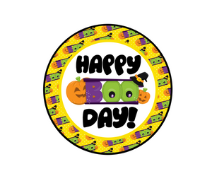 Happy Boo Day Package Tag - Dots and Bows Designs