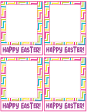 Load image into Gallery viewer, Happy Easter 2 Card 4x5 - Dots and Bows Designs
