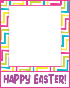 Happy Easter 2 Card 4x5 - Dots and Bows Designs
