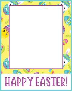 Happy Easter Card 4x5 - Dots and Bows Designs