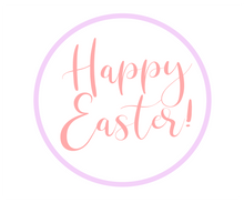 Load image into Gallery viewer, Happy Easter Purple/Pink Package Tags - Dots and Bows Designs
